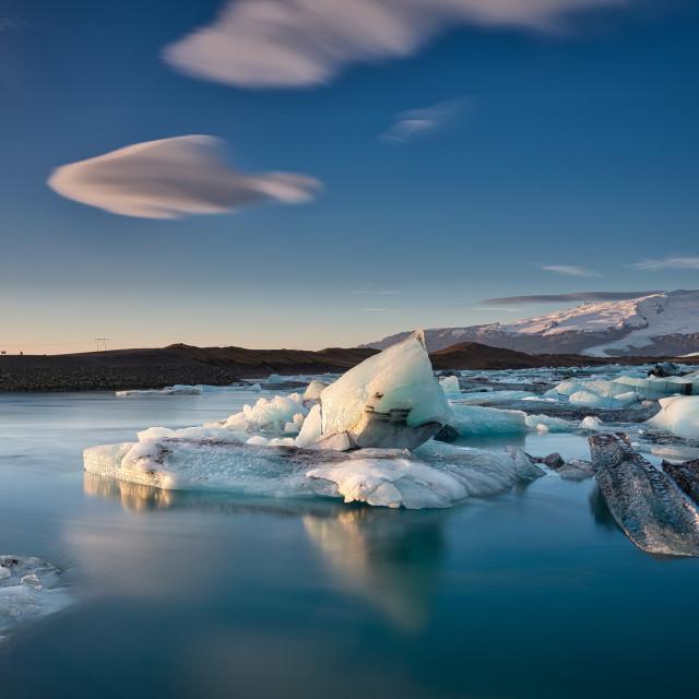 """Jokulsarlon glacier lagoon, Iceland."" stock image"