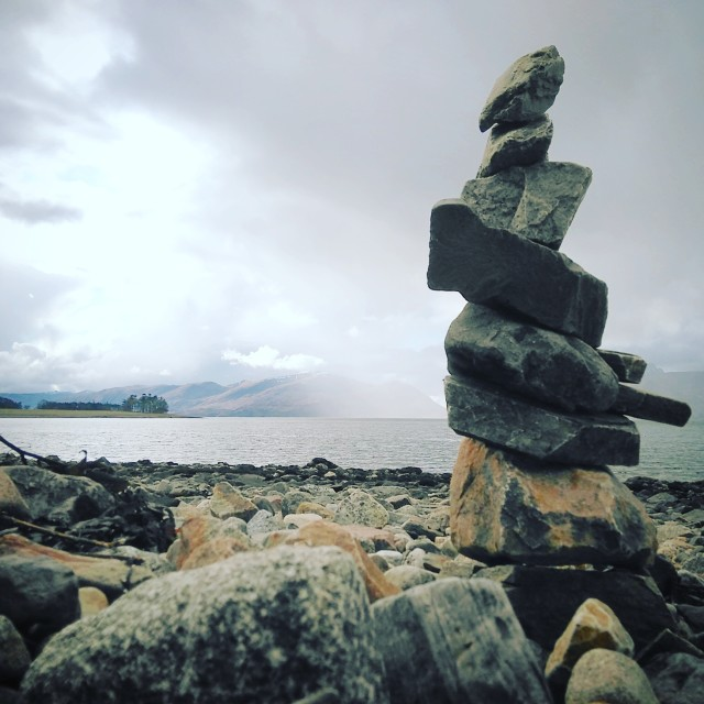 """Linnhe Shore Stack"" stock image"