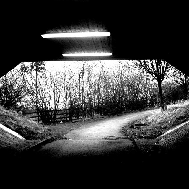 """Normandy Way Underpass"" stock image"