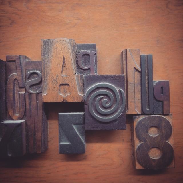 """Typography"" stock image"