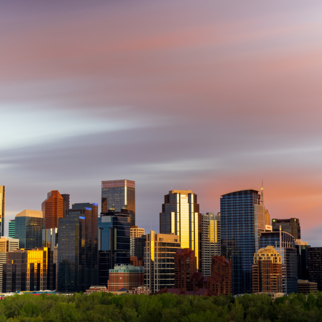 """Calgary Sunset"" stock image"