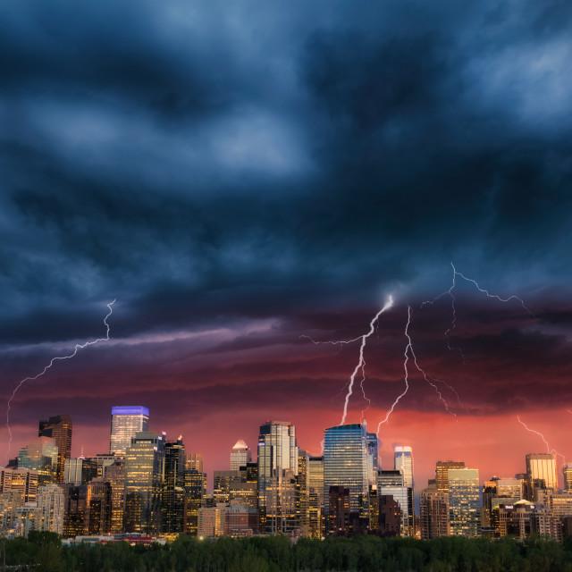 """City Storm"" stock image"