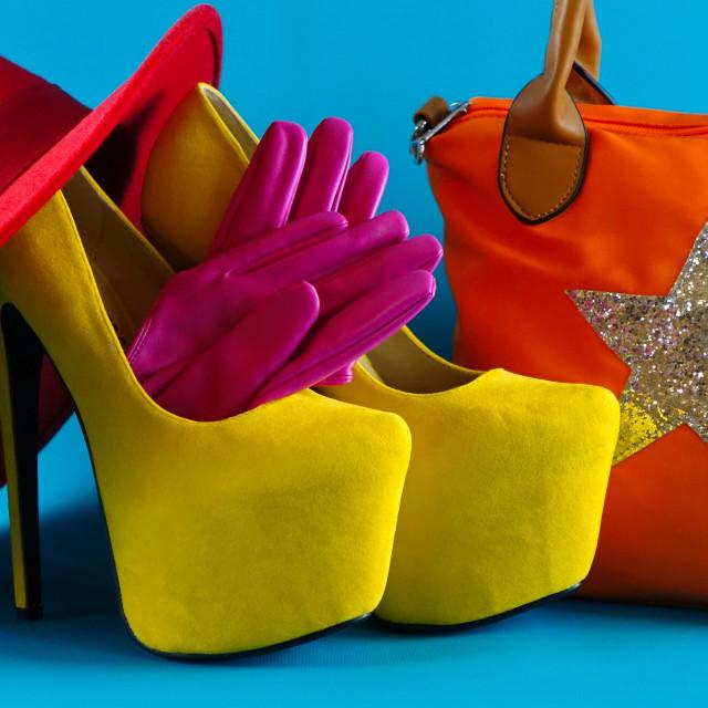 """Colourful Fashion Accessories"" stock image"