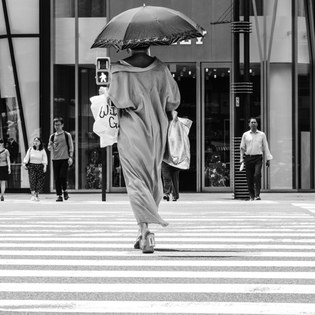"""""""Ginza Crossing"""" stock image"""