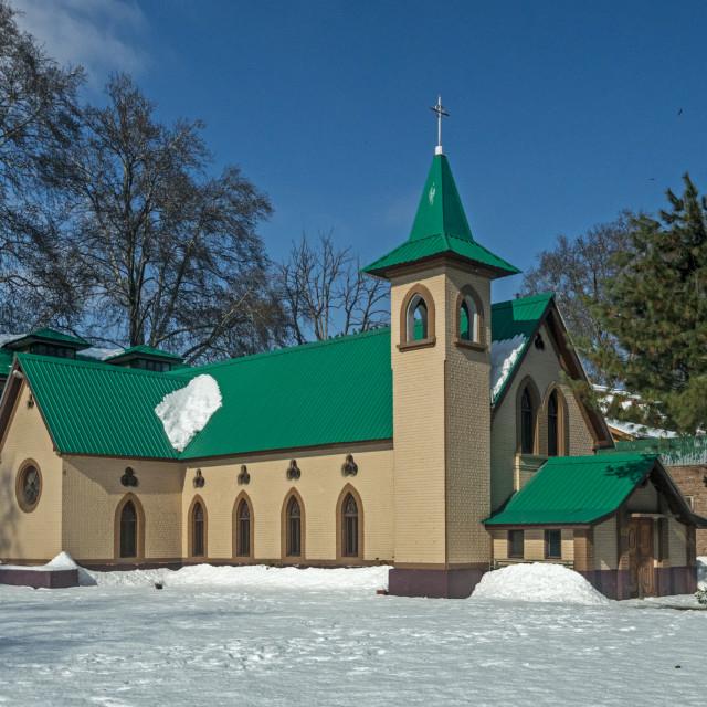 """""""Holy Family Catholic Church"""" stock image"""