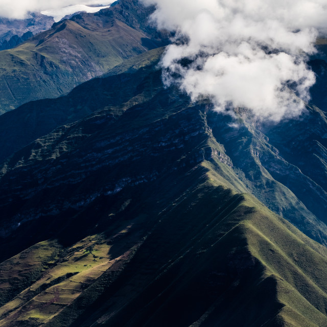 """""""Sacred Valley Mountains"""" stock image"""
