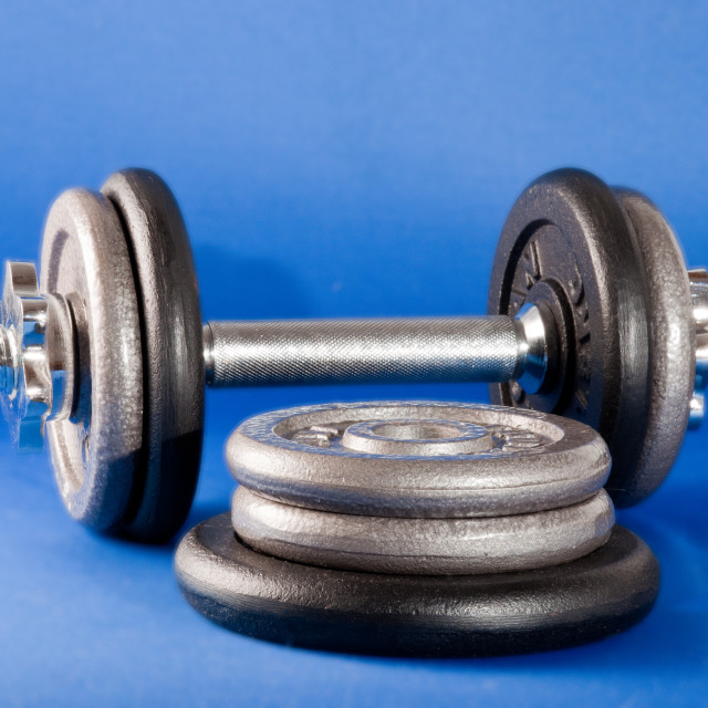 """""""Barbell and Weights"""" stock image"""