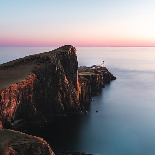 """""""Sunset at Neist Point"""" stock image"""