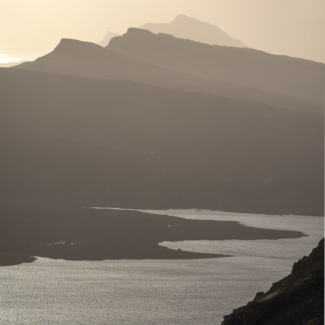 """""""The sand dune mountains of the isle of Skye"""" stock image"""