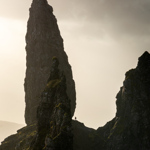 """""""Old and Young man of Storr"""" stock image"""