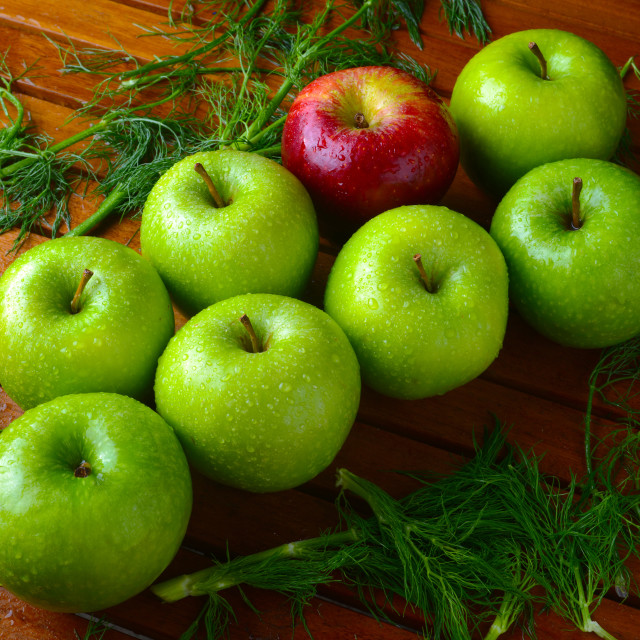 """Green and red apples"" stock image"