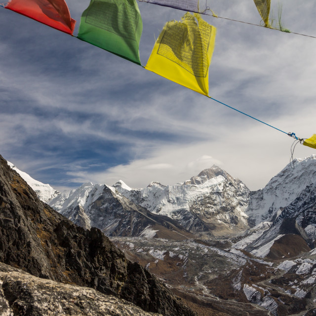 """Makalu (8463m) seen from Nangkartshang (5083m)"" stock image"