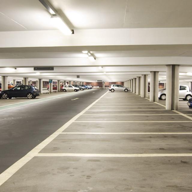 """Car Park Interior"" stock image"