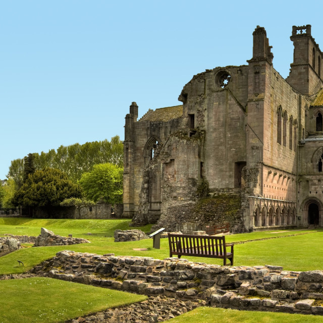 """Melrose Abbey"" stock image"