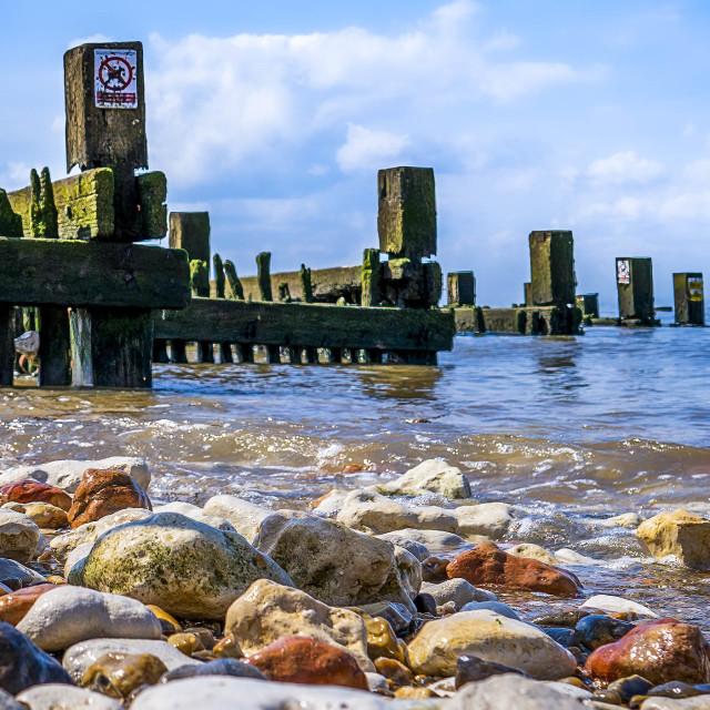 """Hunstanton Beach.."" stock image"