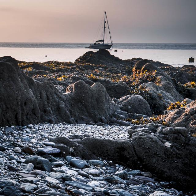 """Sunrise, Kingsand Beach."" stock image"