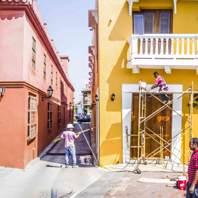 """Cartagena Street Photography"" stock image"