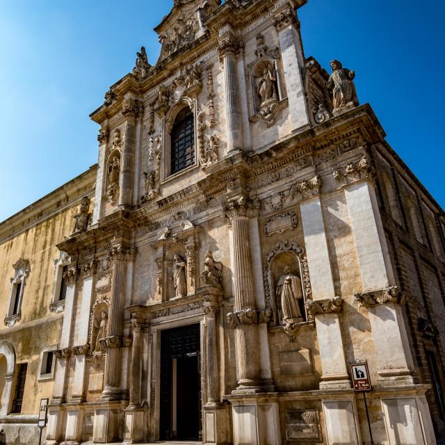 """Church of St. Maria. Mesagne. Puglia. Italy"" stock image"