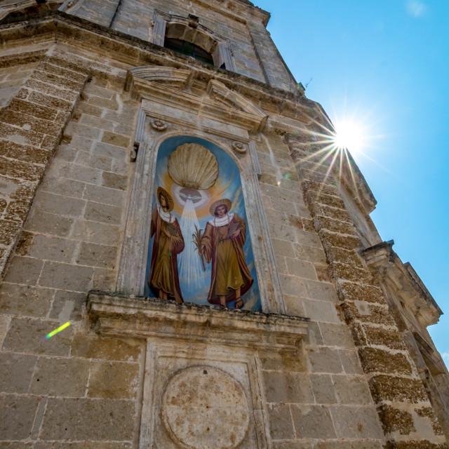 """Church of SS. Cosma e Damiano. Mesagne, Italy"" stock image"