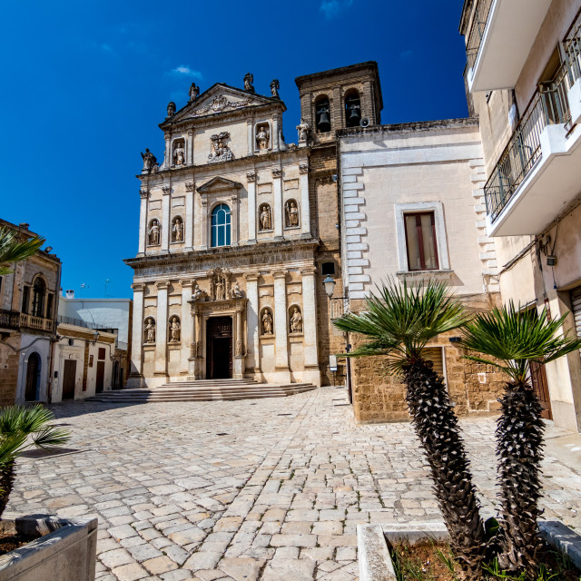 """""""The old church of St. Anna, Mesagne. Puglia, Italy"""" stock image"""