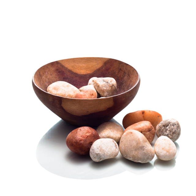 """""""Bowl of Pebbles"""" stock image"""