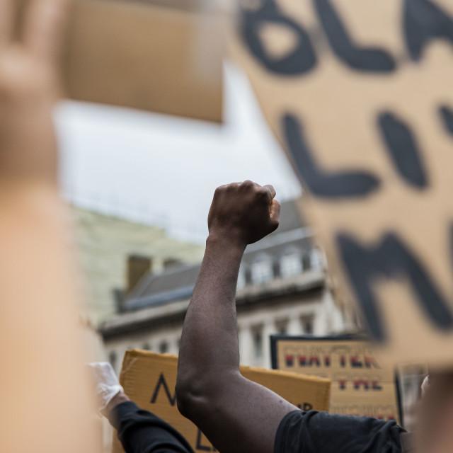 """Black Lives Matter Protest London"" stock image"