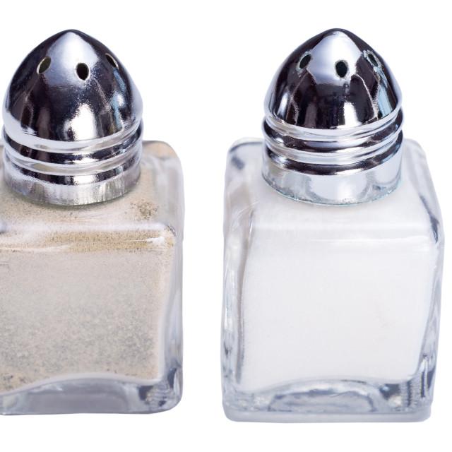 """Salt and Pepper Cellars"" stock image"