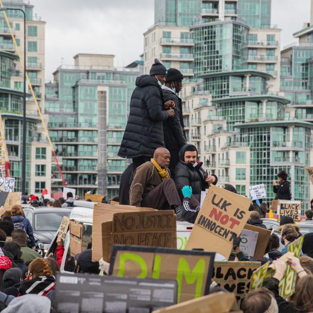 """Black Lives Matter London"" stock image"