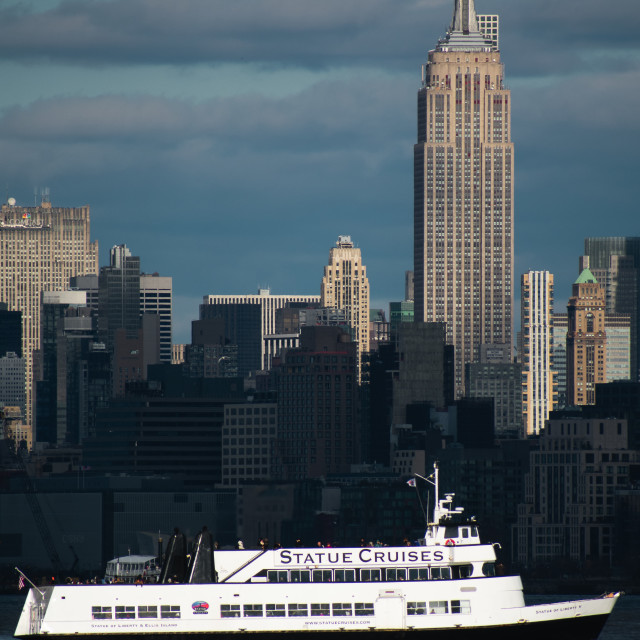 """""""Empire state building and statue cruises"""" stock image"""