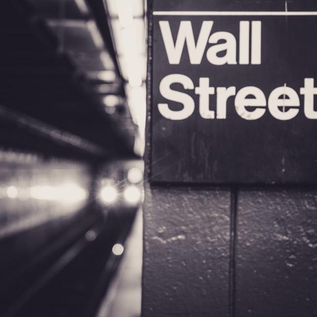 """wall street subway station"" stock image"