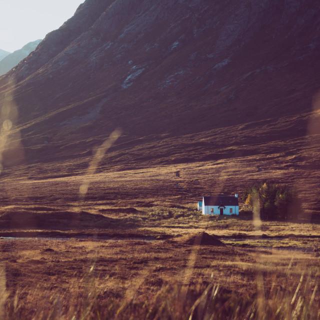 """Lagangarbh Hut in Glen coe"" stock image"