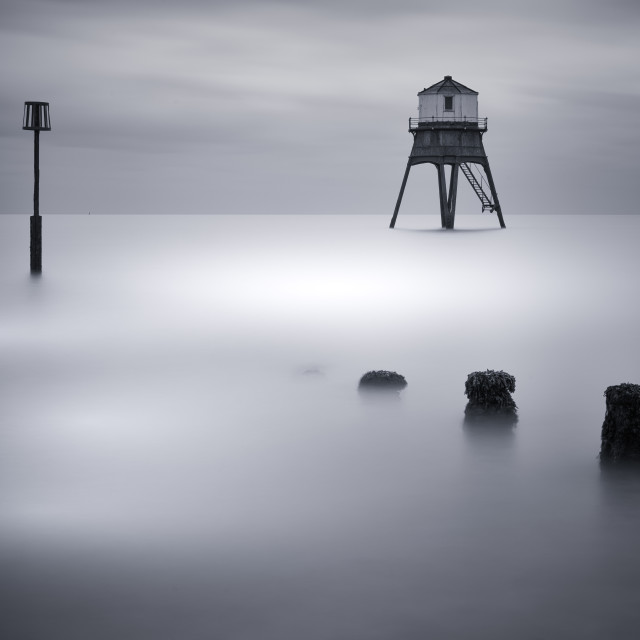 """Dovercourt Low Light High Tide"" stock image"