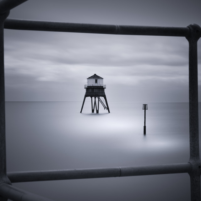 """Dovercourt Low Light Framed View"" stock image"