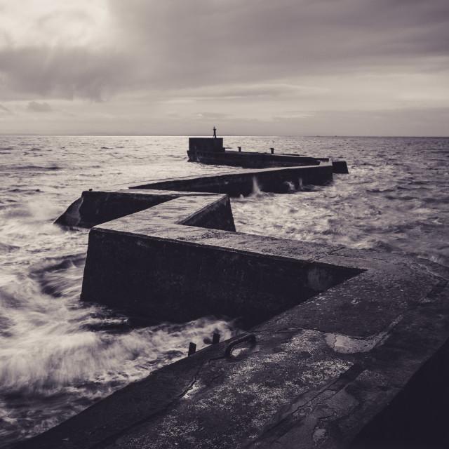"""St Monans Breakwater"" stock image"