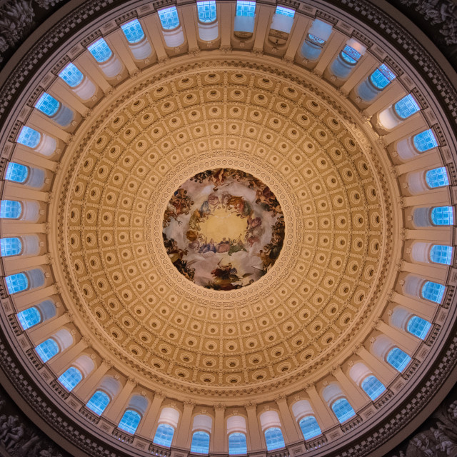 """""""Capitol Building Ceiling"""" stock image"""