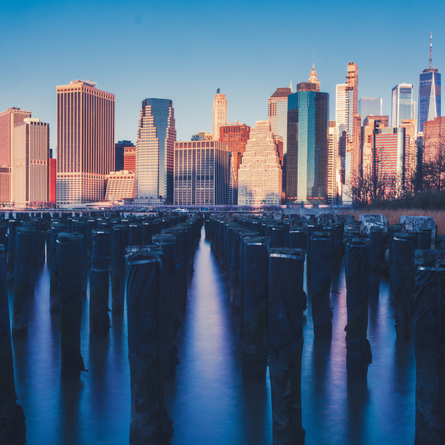 """""""NYC Skyline from brooklyn"""" stock image"""