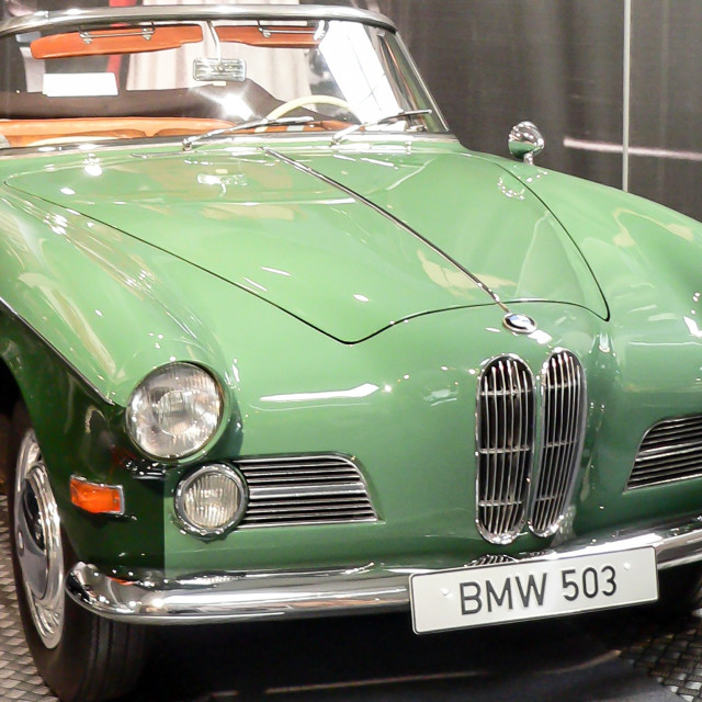 """Two tone green BMW 503"" stock image"