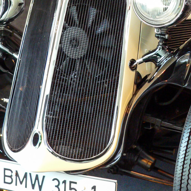 """""""A black and cream BMW 315-1."""" stock image"""