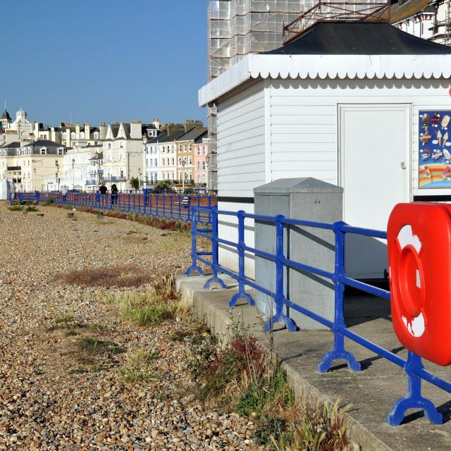 """seafront & ice cream kiosk, Eastbourne."" stock image"