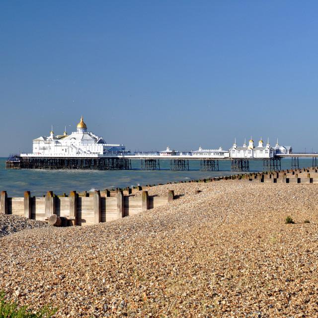 """Beach & Pier, Eastbourne"" stock image"