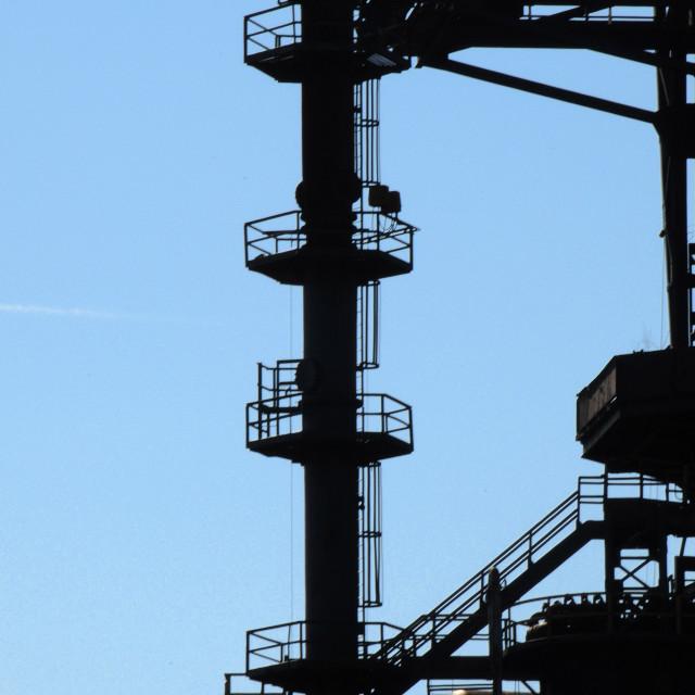 """Bethlehem Steel. USA Industrial icon"" stock image"