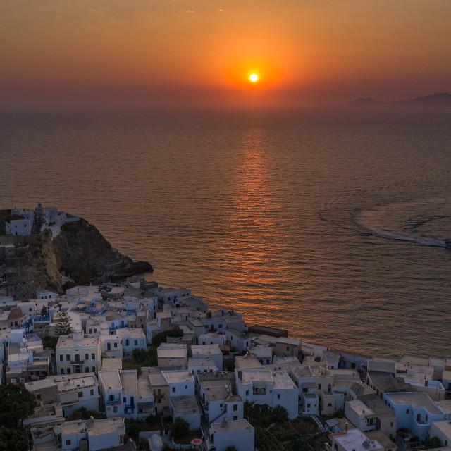 """Sunset in Nisyros island"" stock image"
