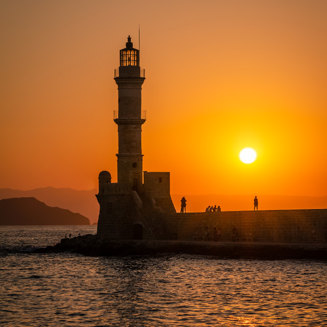 """""""Lighthouse in Chania"""" stock image"""
