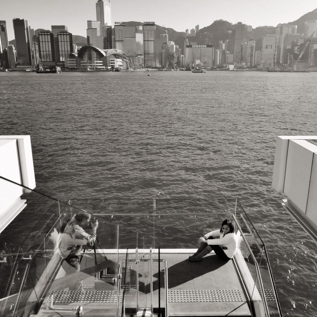 """""""Victoria Harbour, Hong Kong."""" stock image"""
