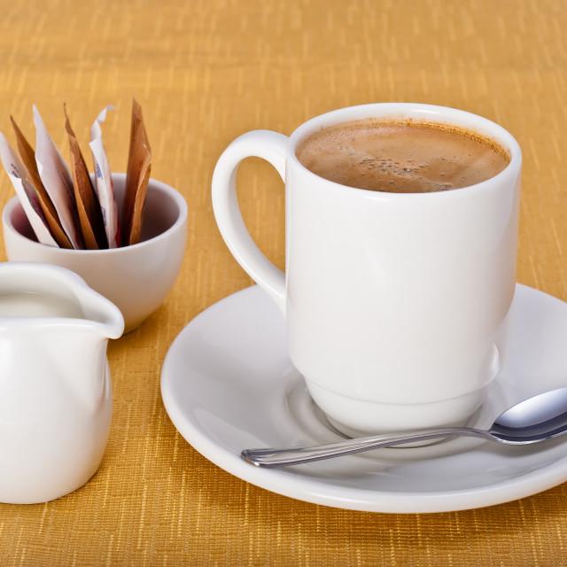 """Coffee, Milk and Sugar"" stock image"