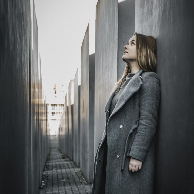 """""""Girl in Berlin"""" stock image"""