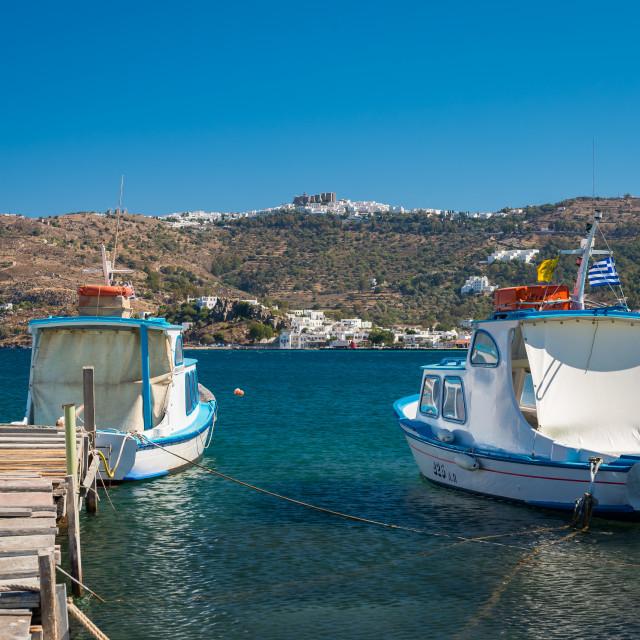 """""""Patmos island Greece"""" stock image"""