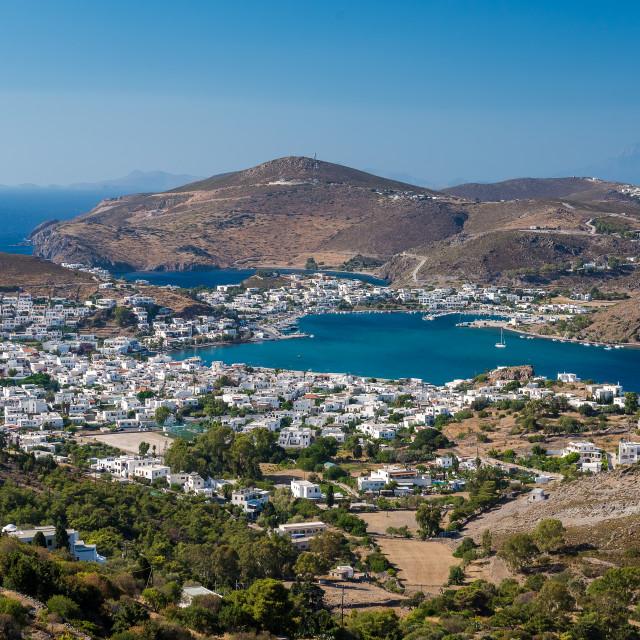 """Summer in Patmos island Greece"" stock image"