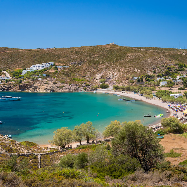 """""""Kampos beach Patmos"""" stock image"""