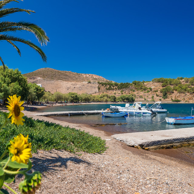 """Melloi Beach in Patmos island"" stock image"